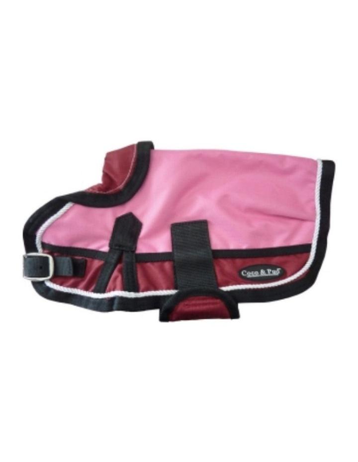 Waterproof Dog Coat 3022 - Red/ Pink LARGE image 1