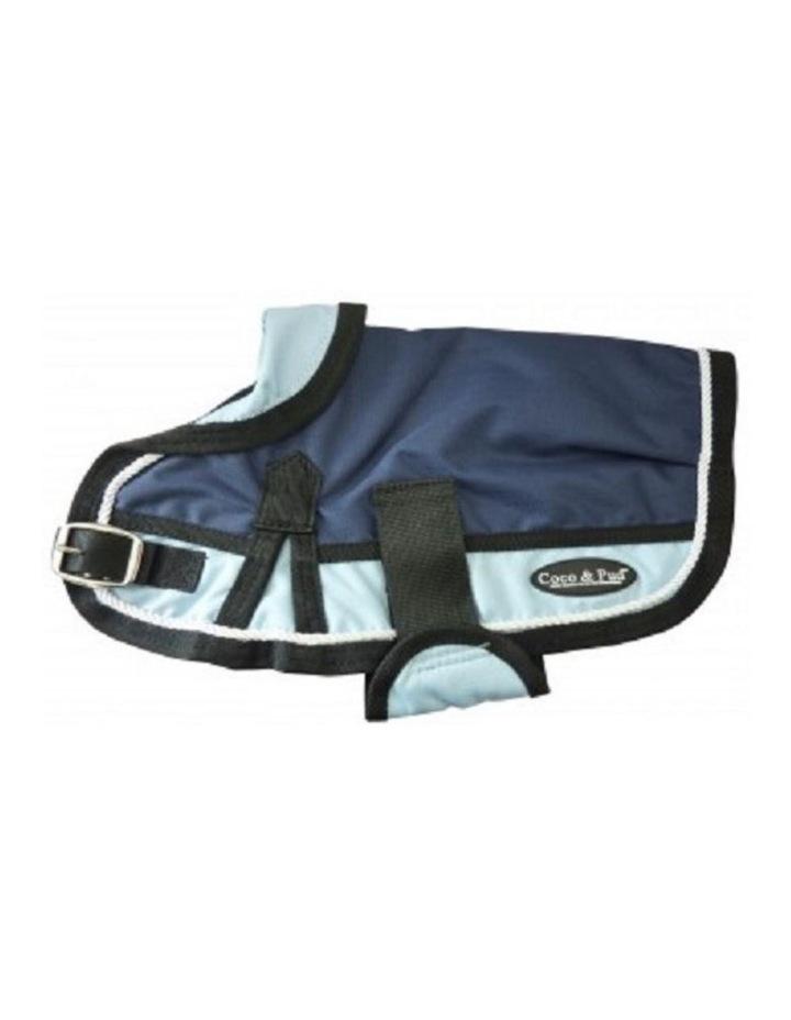 Waterproof Dog Coat 3022 - Light Blue/ Navy SMALL image 1