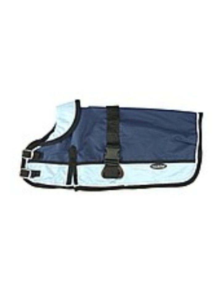 Waterproof Dog Coat 3022 - Light Blue/ Navy SMALL image 3
