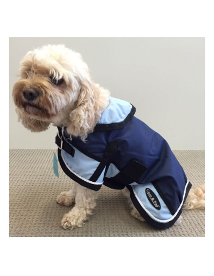 Waterproof Dog Coat 3022 - Light Blue/ Navy SMALL image 4