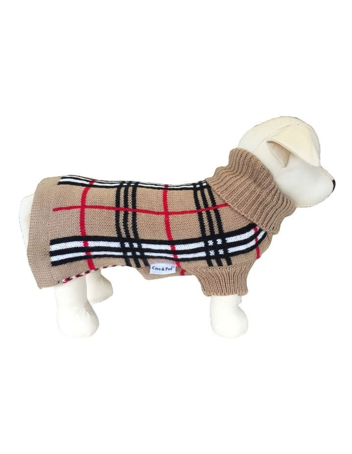 Knightsbridge Dog Sweater - Beige XXS image 1