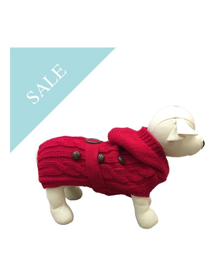 Paris Dog Sweater - Red SMALL image 2
