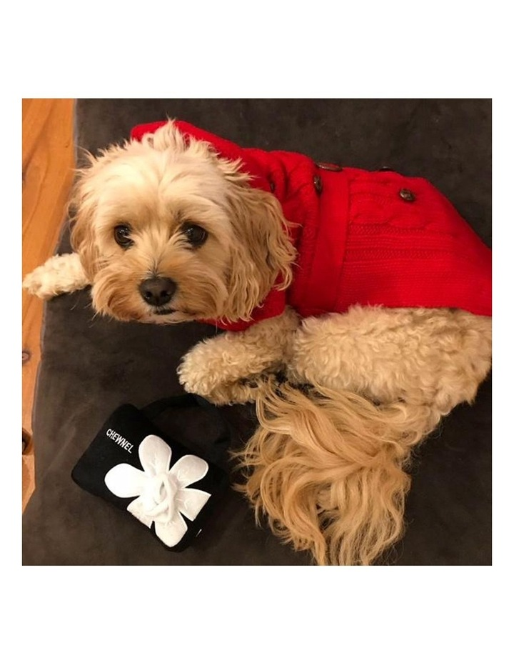Paris Dog Sweater - Red SMALL image 6