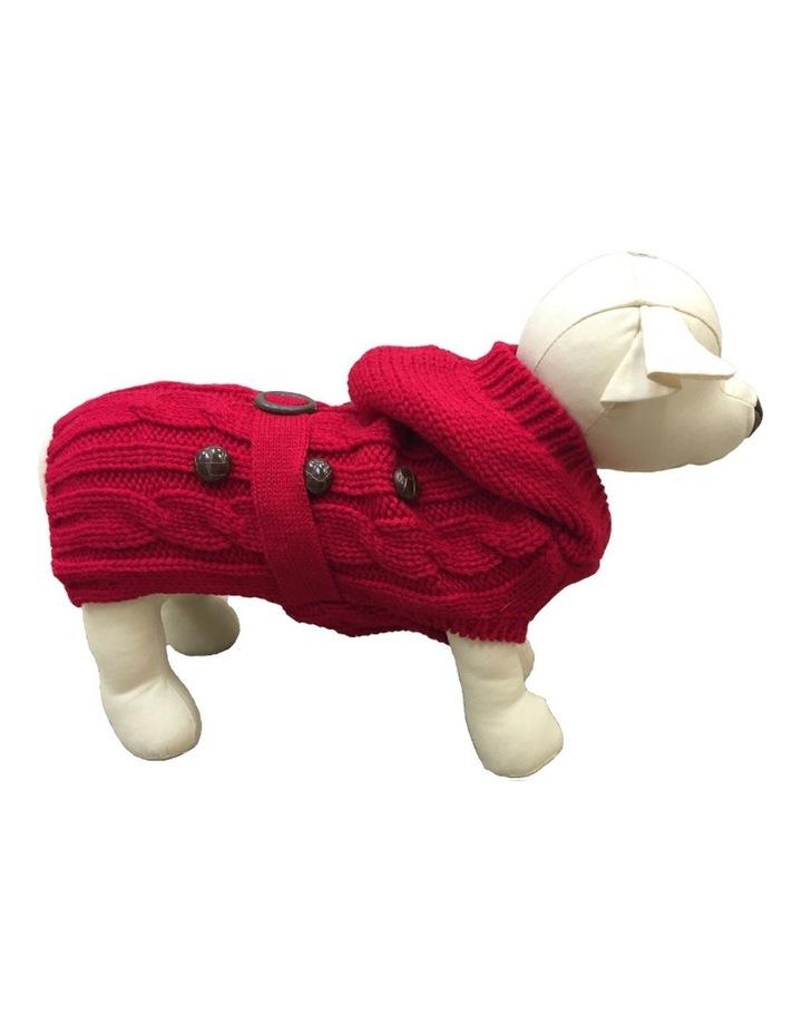 Paris Dog Sweater - Red LARGE image 1