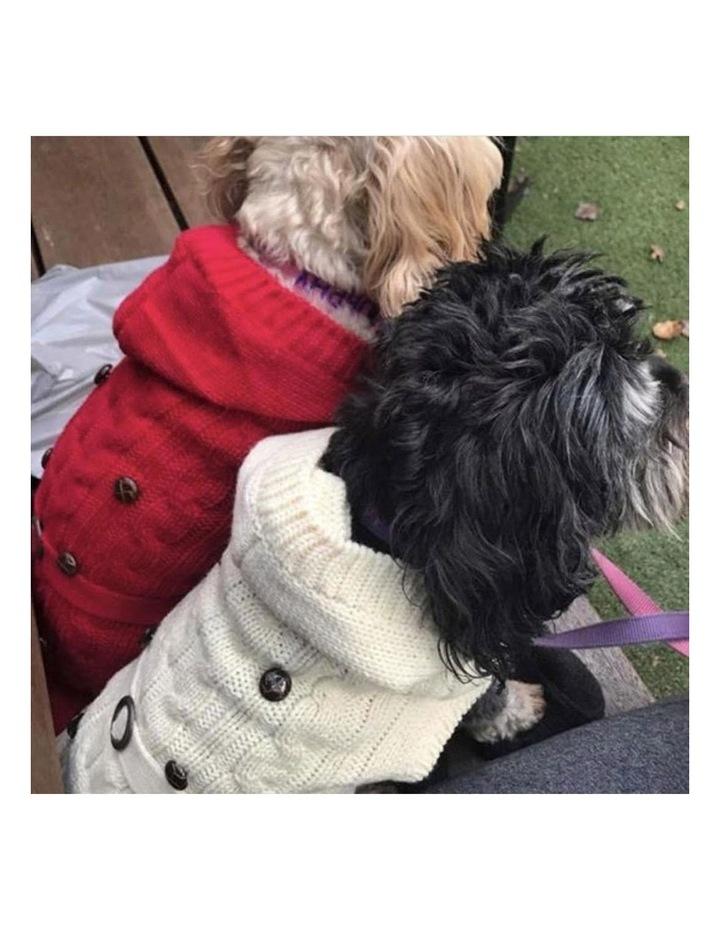 Paris Dog Sweater - Red LARGE image 4