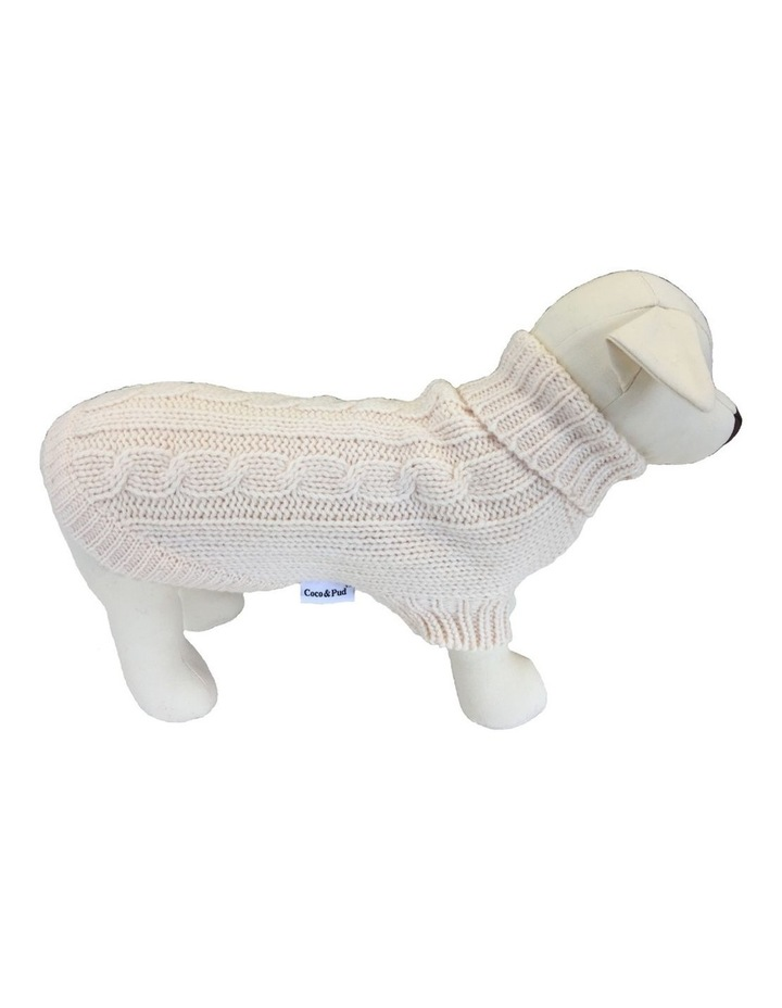 Brighton Dog Sweater - Cream LARGE image 1