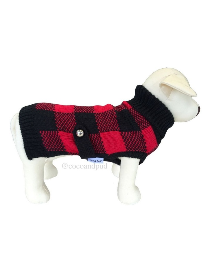 Boston Dog Sweater - Red/ Black image 3