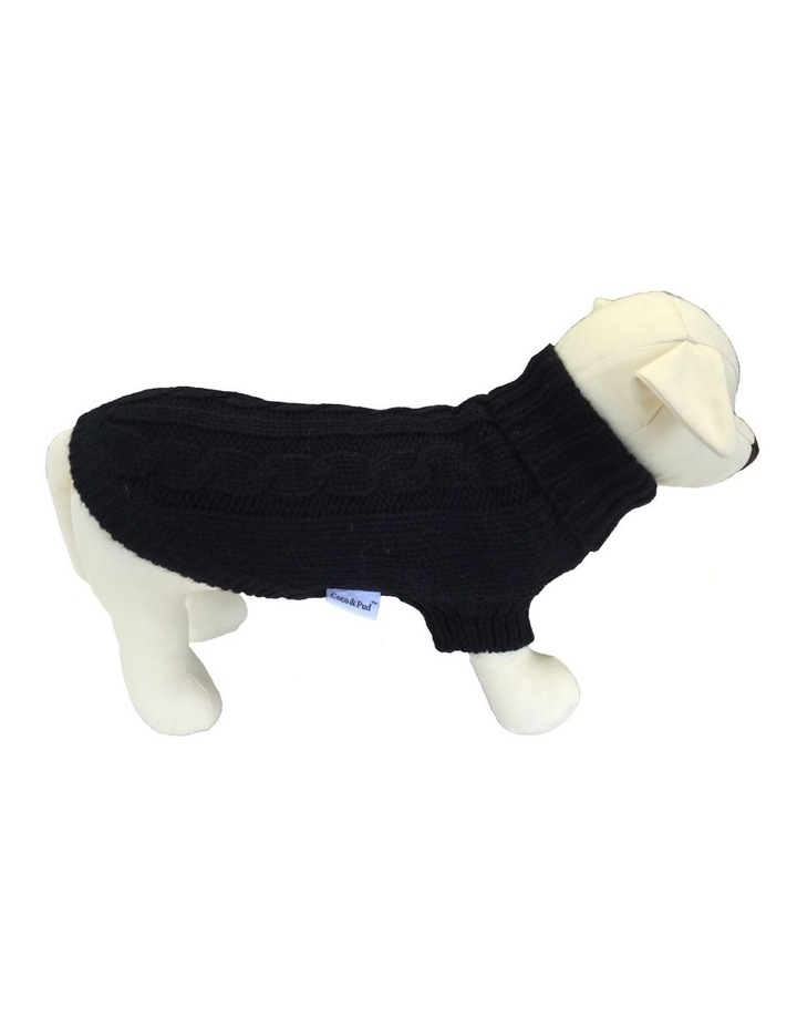 Brighton Dog Sweater - Black image 1