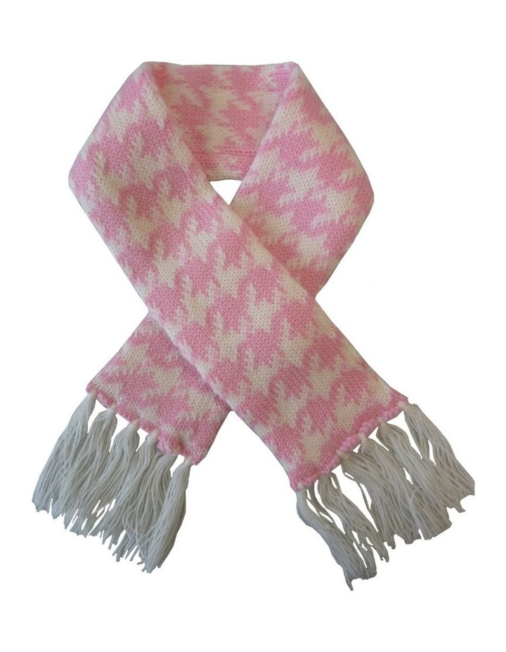 Houndstooth Dog Sweater - Pink/ White XS image 2