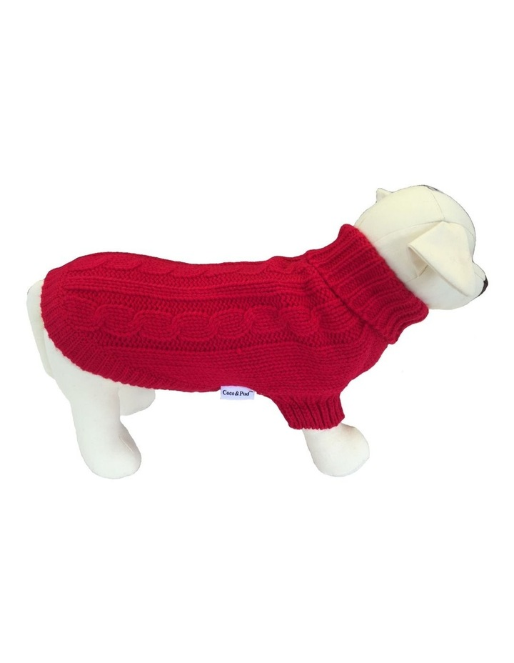 Brighton Dog Sweater - Red image 1
