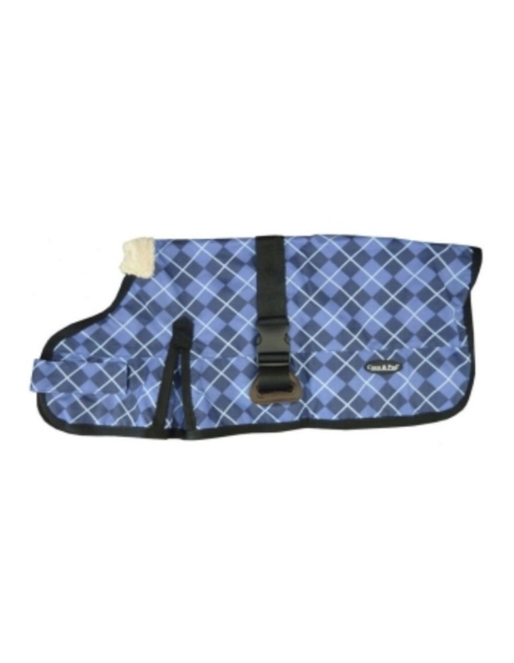 Waterproof Dog Coat 3009-B - Blue Check (for big dogs) image 1