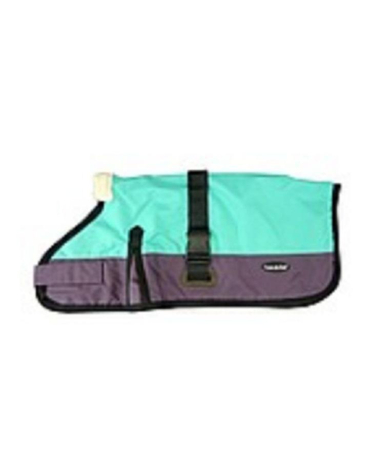 Waterproof Dog Coat 3009-B - Teal/ Purple (for Big Dogs) image 1