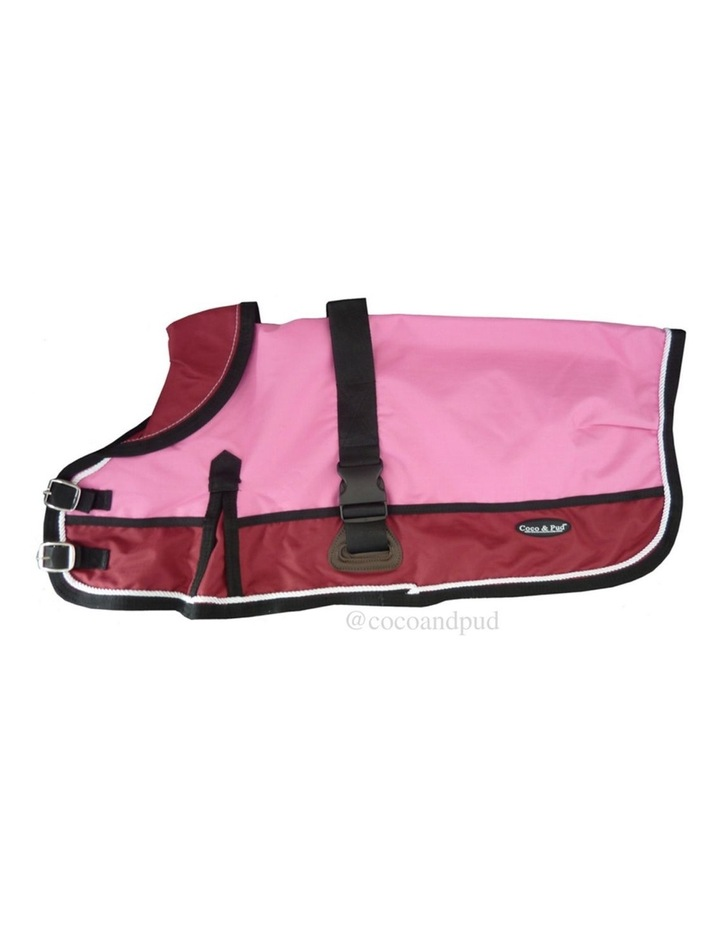 Waterproof Dog Coat 3022-B Pink/ Red (For Big Dogs) image 1