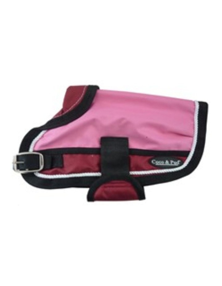 Waterproof Dog Coat 3022-B Pink/ Red (For Big Dogs) image 3