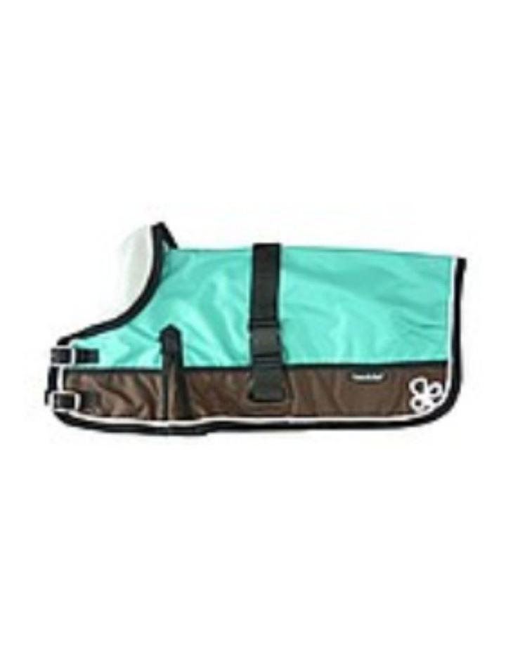 Waterproof Dog Coat 3011-B Teal & Chocolate (For Big Dogs) image 1