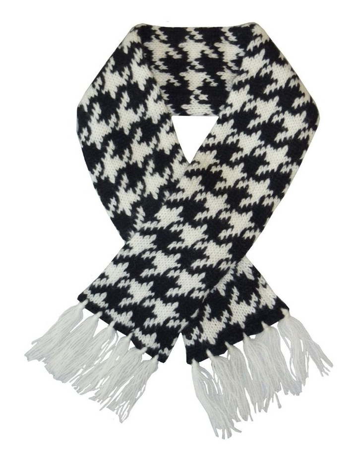 Houndstooth Pet Scarf - Black & White image 1