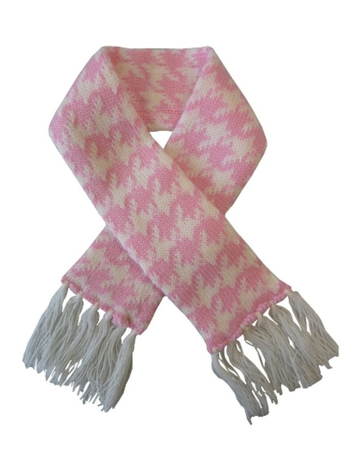 Houndstooth Pet Scarf - Pink & White image 1