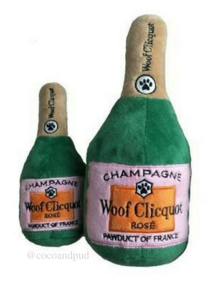 Woof Clicquot Rose Champagne Dog Toy image 2