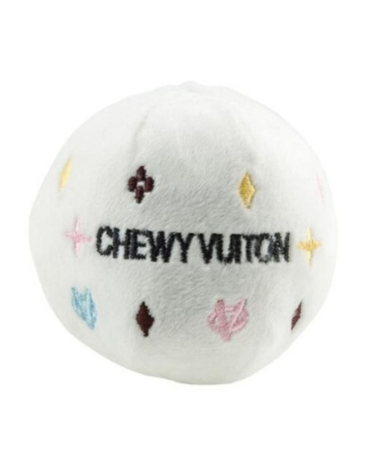White Chewy Vuiton Ball Dog Toy NEW! (Now In Stock!) image 1