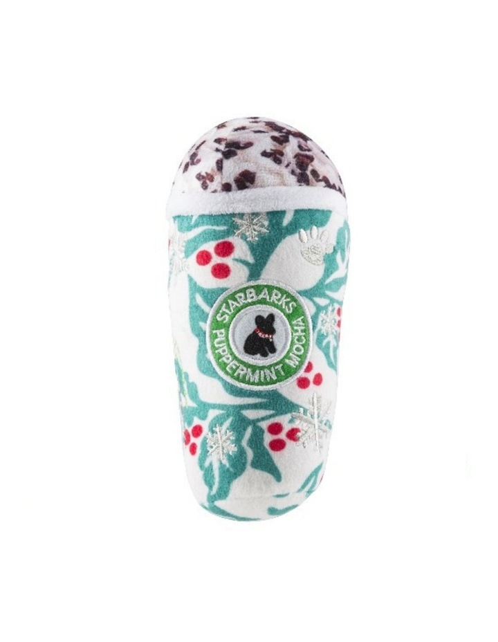Starbarks Puppermint Mocha Holly Leaves Dog Toy image 1