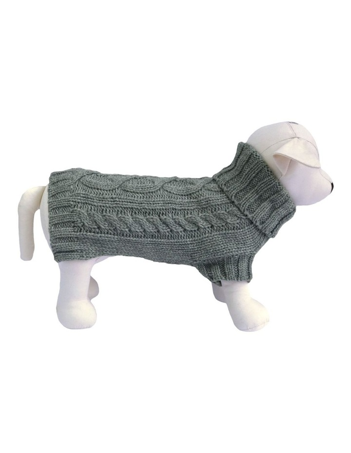 Cable Dog Sweater - Storm Grey image 1