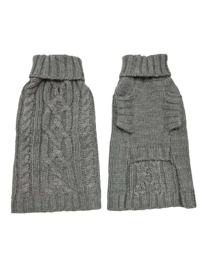 Cable Dog Sweater - Storm Grey image 2