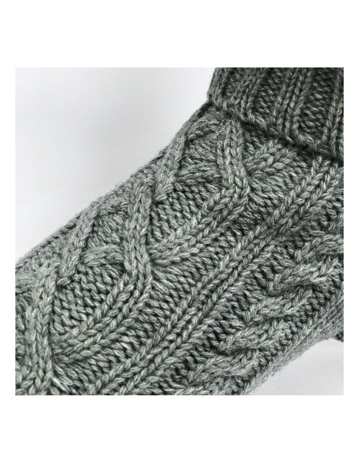 Cable Dog Sweater - Storm Grey image 3