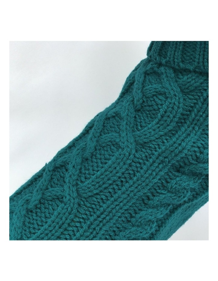Cable Dog Sweater - Teal image 2