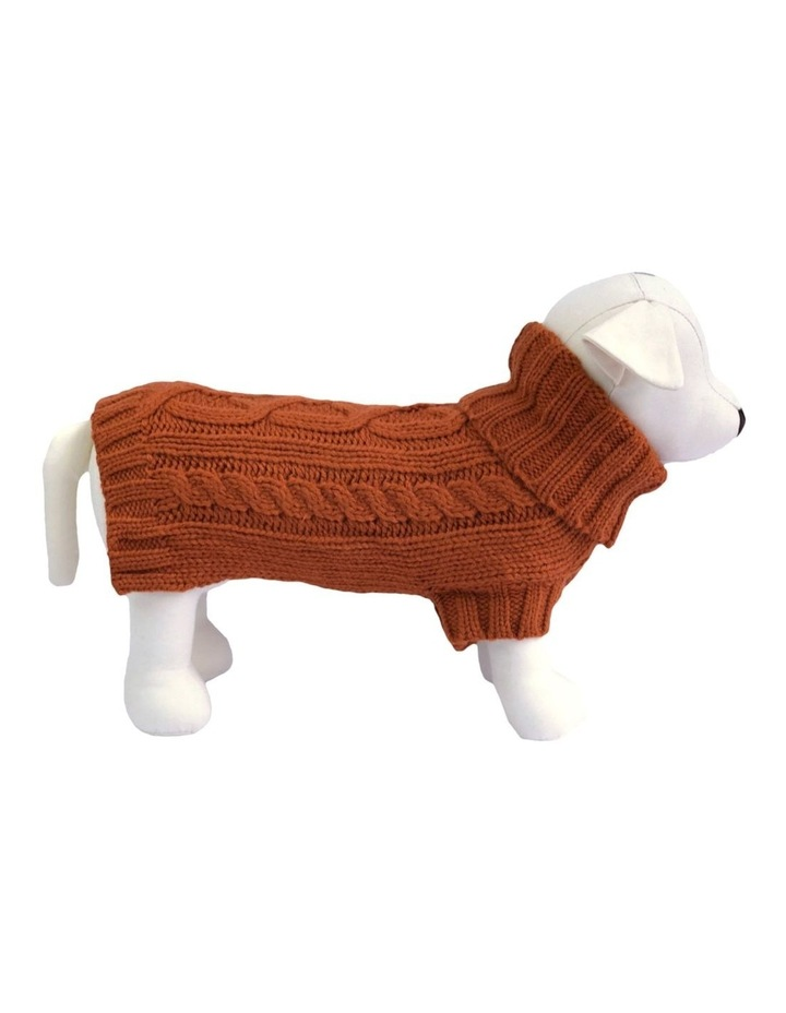 Cable Dog Sweater - Sienna image 1