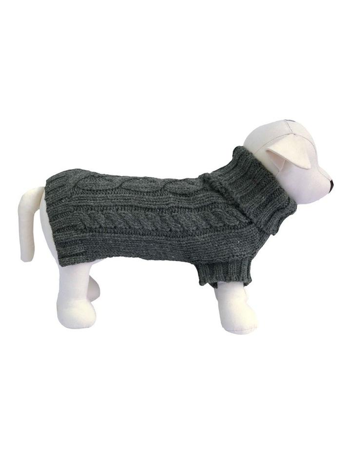 Cable Dog Sweater - Slate Grey image 1