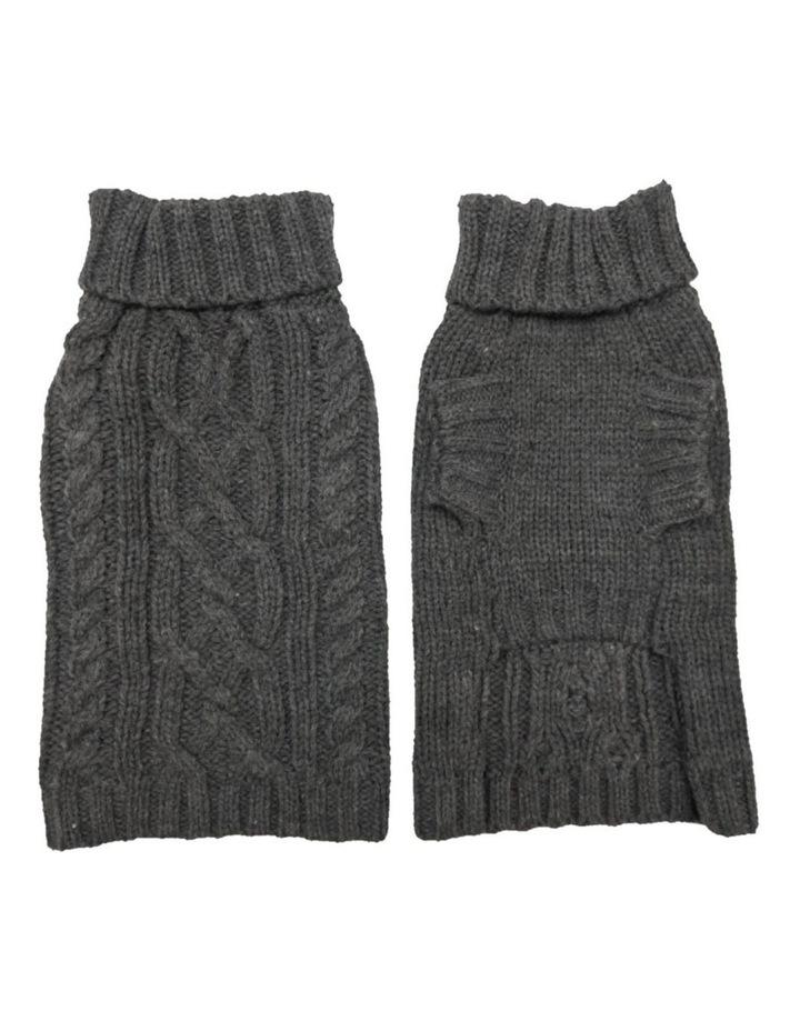 Cable Dog Sweater - Slate Grey image 2