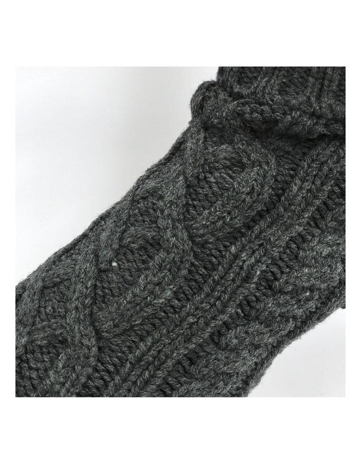 Cable Dog Sweater - Slate Grey image 3