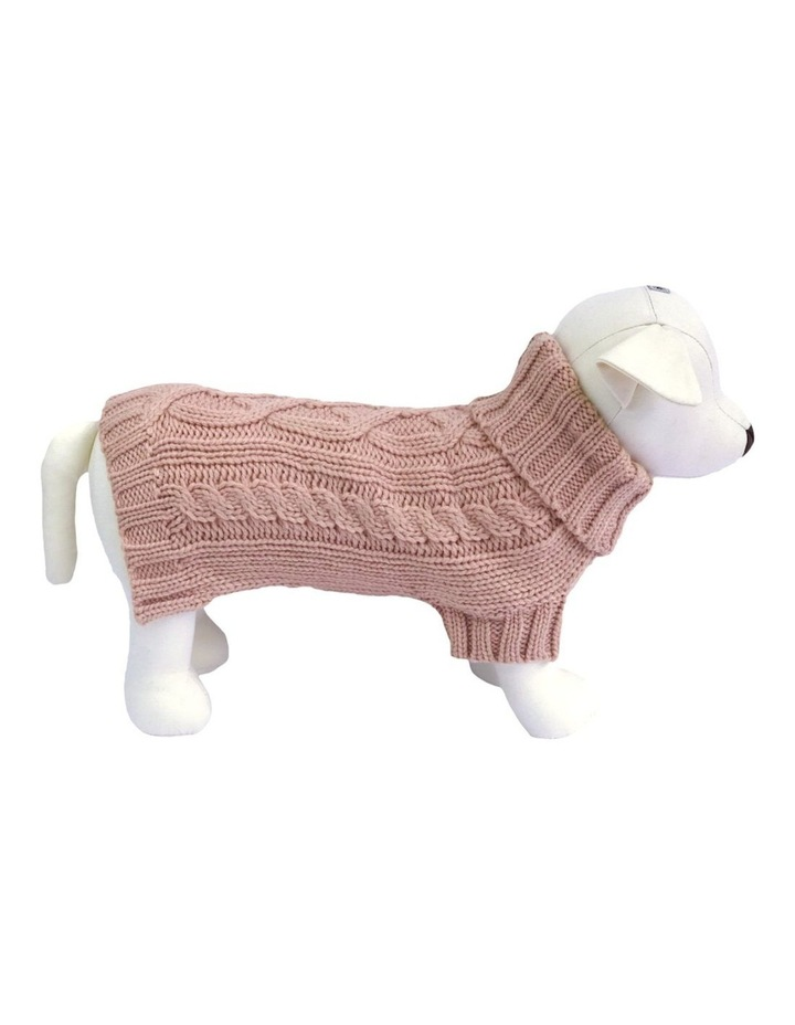 Cable Dog Sweater - Rose image 1