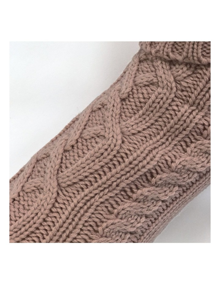 Cable Dog Sweater - Rose image 3