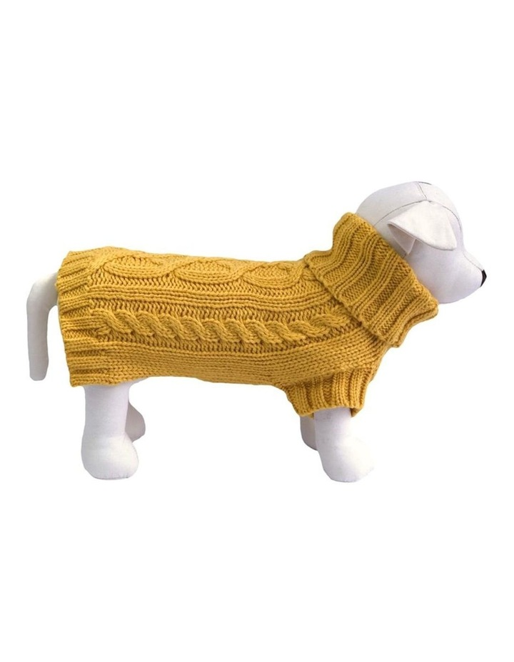 Cable Dog Sweater - Mustard image 1