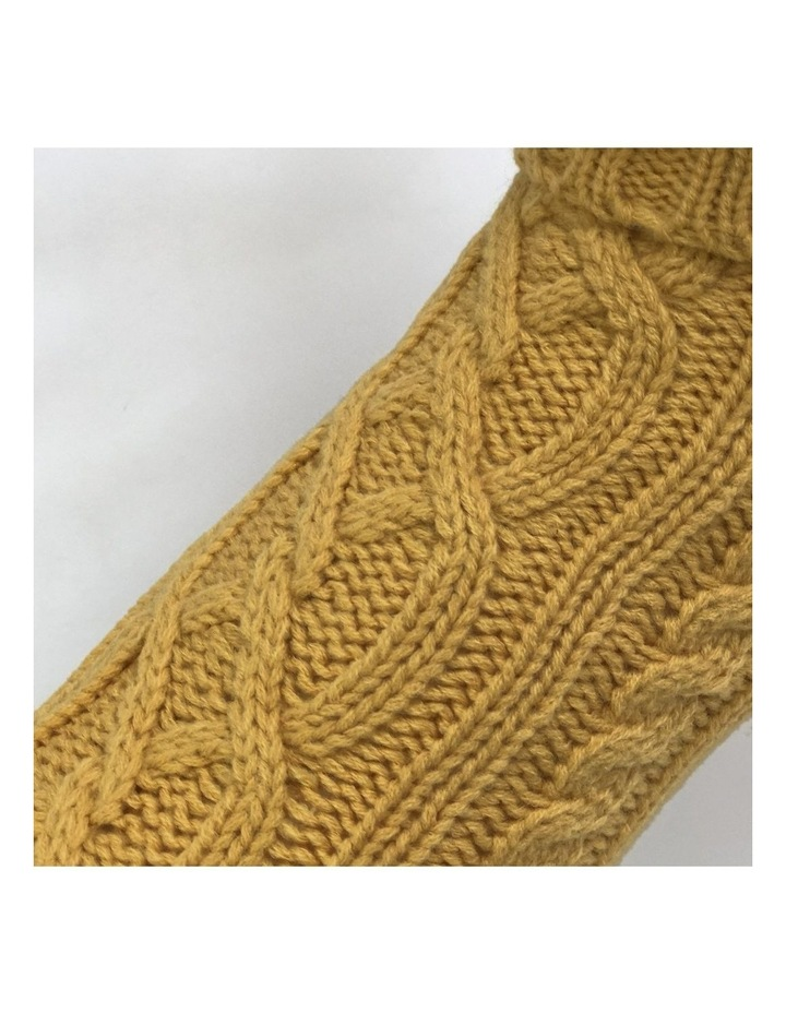 Cable Dog Sweater - Mustard image 2