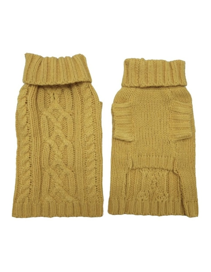 Cable Dog Sweater - Mustard image 3