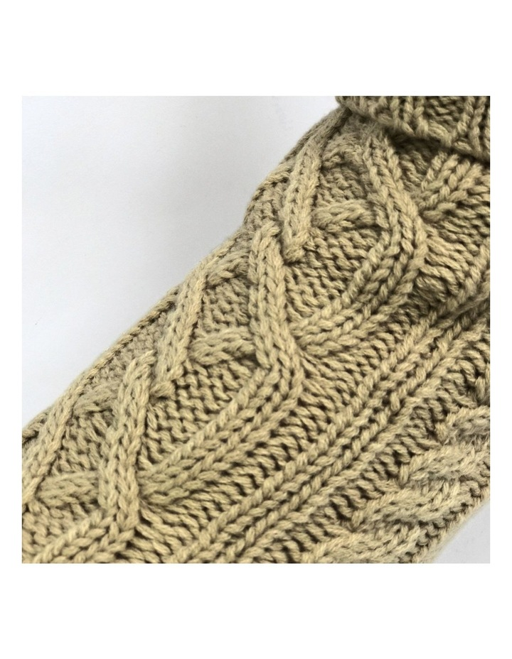 Cable Dog Sweater - Oatmeal image 3