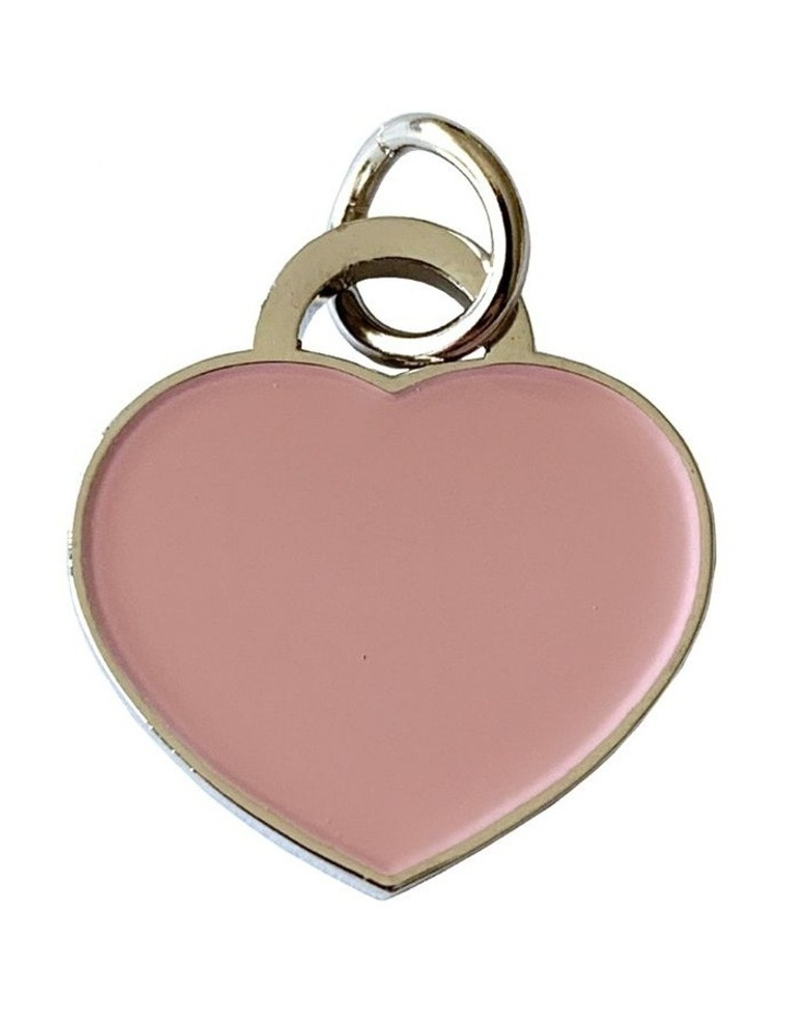 Coco & Pud Audrey Cat ID Tag - Silver/Pink image 1