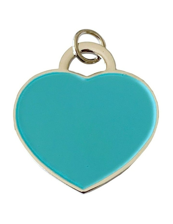 Coco & Pud Audrey Dog ID Tag - Silver/Teal image 1