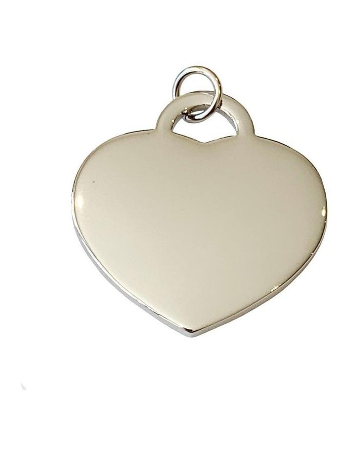 Coco & Pud Heart Dog ID Tag - Silver image 1