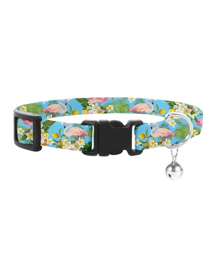 Flamingo Tropical Cat Safety Collar & Bowtie image 1