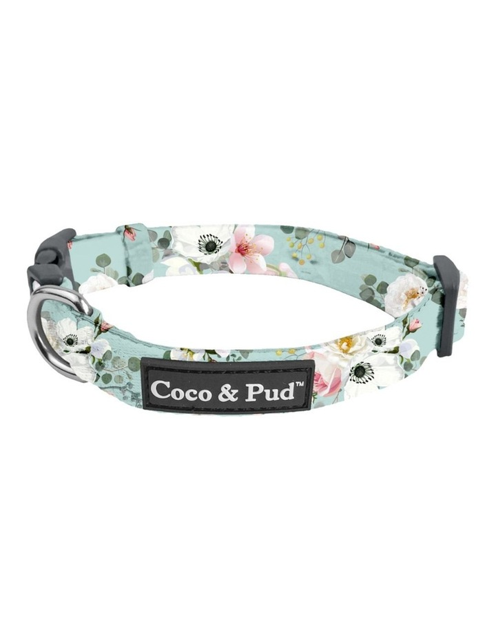 Coco & Pud French Azure Dog Collar & Bow Tie image 1