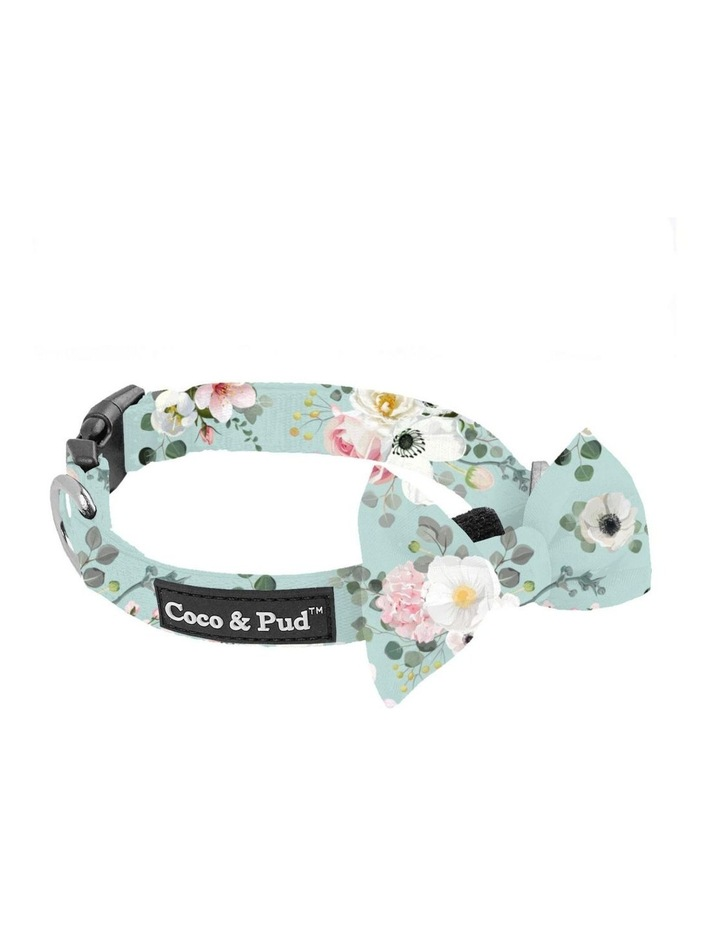Coco & Pud French Azure Dog Collar & Bow Tie image 2