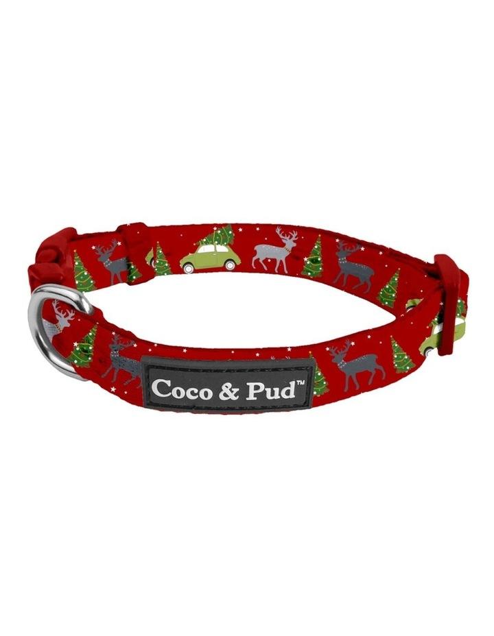 Deck The Paws Christmas Dog Collar & Bow tie image 1