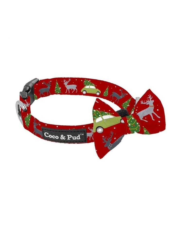 Deck The Paws Christmas Dog Collar & Bow tie image 2