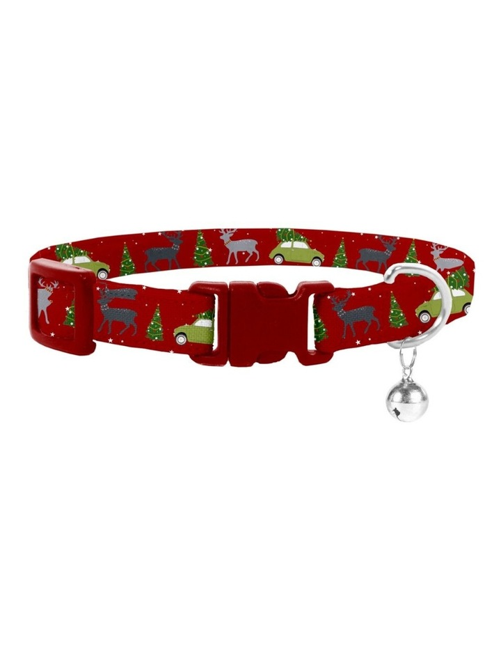 Deck The Paws Christmas Cat Safety Collar & Bowtie image 1