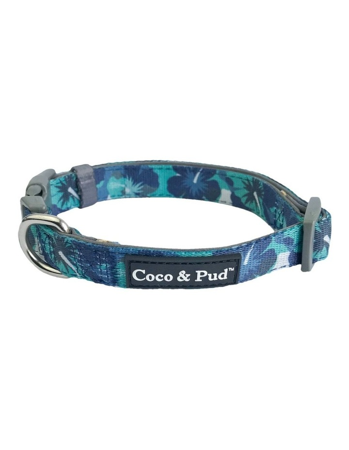 Camo Hibiscus Dog Collar & Bow tie image 1
