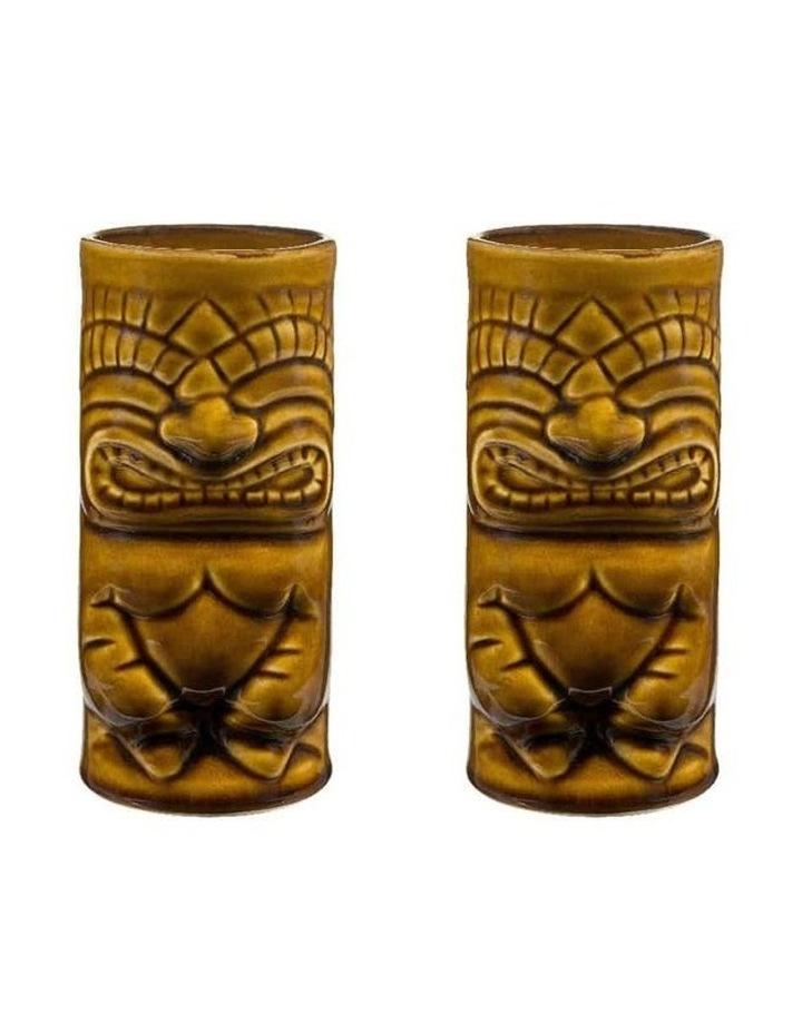 Ceramic Tiki Mug Tumbler - Set of 2 image 1