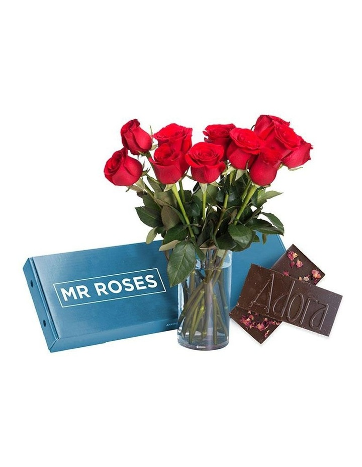 Sublime 20 Red Roses Gift Box with Dark Chocolate image 1